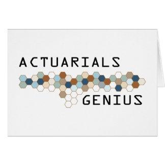 Actuarials Genius Greeting Cards
