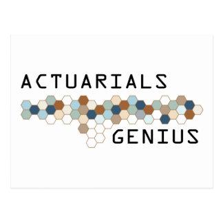 Actuarials Genius Post Cards
