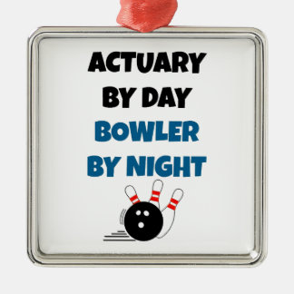 Actuary by Day Bowler by Night Christmas Ornament