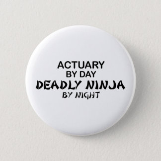 Actuary Deadly Ninja by Night 6 Cm Round Badge