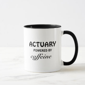 Actuary powered by caffeine mug