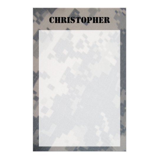 ACU Camo Personalised Stationary Stationery