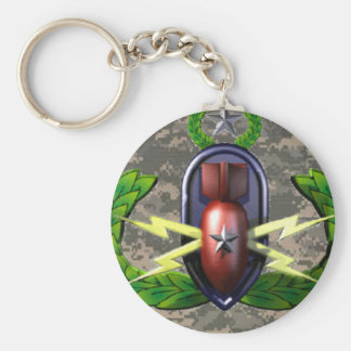ACU EOD Badge Key Chain