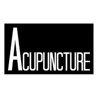 Acupuncture Black and White Business Card