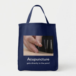 Acupuncture gets to the point! tote bag