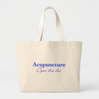 Acupuncture - Open the chi Large Tote Bag