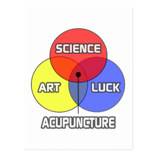 Acupuncture .. Science Art Luck Postcard