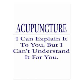 Acupuncturist Joke .. Explain Not Understand Postcard