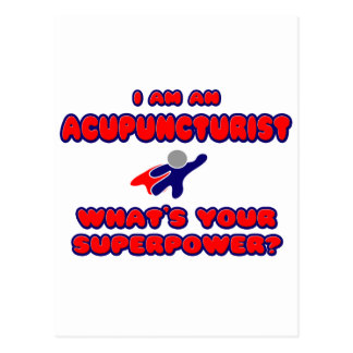 Acupuncturist .. What's Your Superpower? Postcard