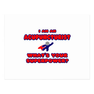 Acupuncturist .. What's Your Superpower? Postcard