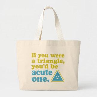 Acut Triange Canvas Bag