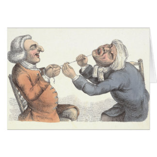 """Acute Pain"" Dentistry Card by Edward Orme 1810"