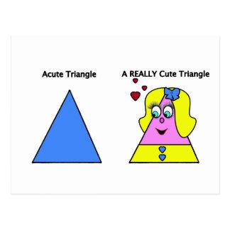 Acute Triangle A Really Cute Triangle Postcard