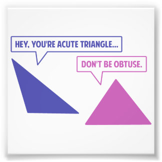 Acute Triangle Obtuse Angle Photo Print