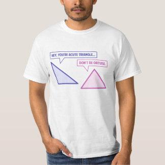 Acute Triangle Obtuse Angle T Shirts