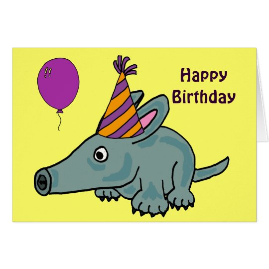 AD- Aardvark Birthday Card