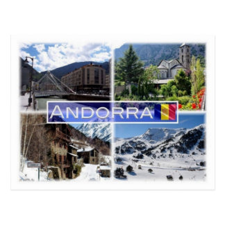 AD Andorra mountains - Postcard