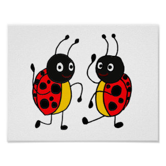 AD- Dancing Ladybugs Poster