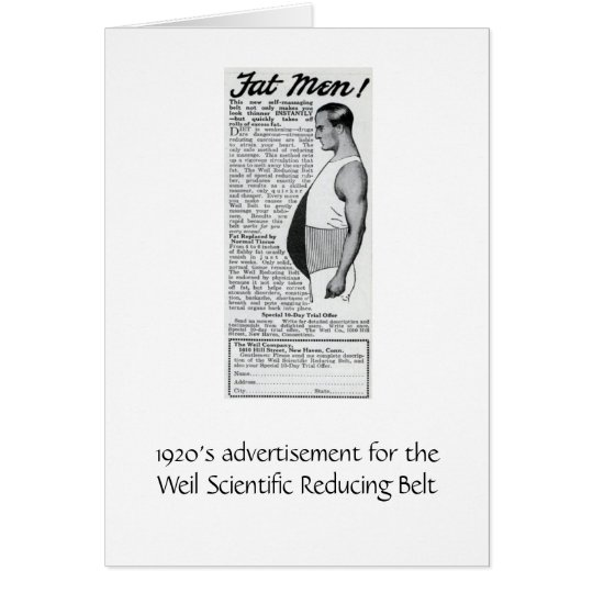 Ad for Fat Men! Card