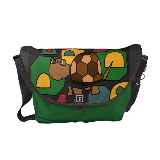 AD- Funny Turtle Art Messenger Bag