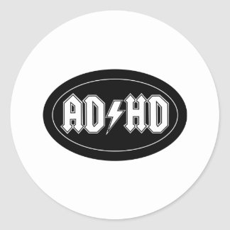 AD/HD CLASSIC ROUND STICKER