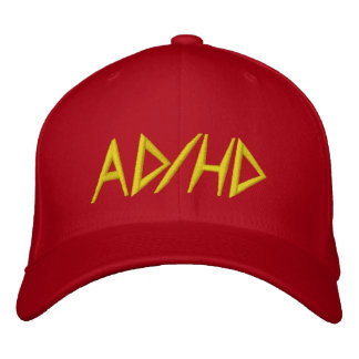AD HD - Red Embroidered Baseball Cap