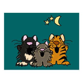 AD- Hilarious Singing Cats Postcard