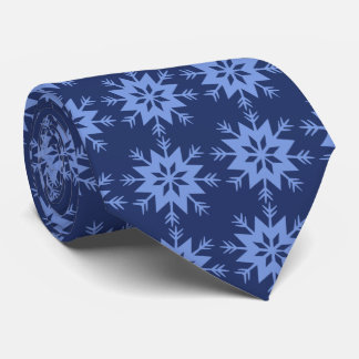 Ad Man Arrow-flake Snowflake Blue Two-sided Tie