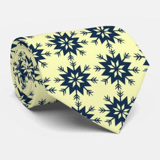 Ad Man Arrow-flake Snowflake Lemon Two-sided Tie