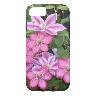 AD- Pink Clematis Flowers Photography iPhone 7 Case