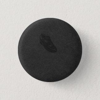 Ad Reinhardt's Shoe (Black on Black) 3 Cm Round Badge
