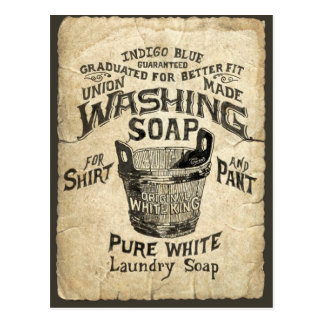 Ad Washing Soap Postcard