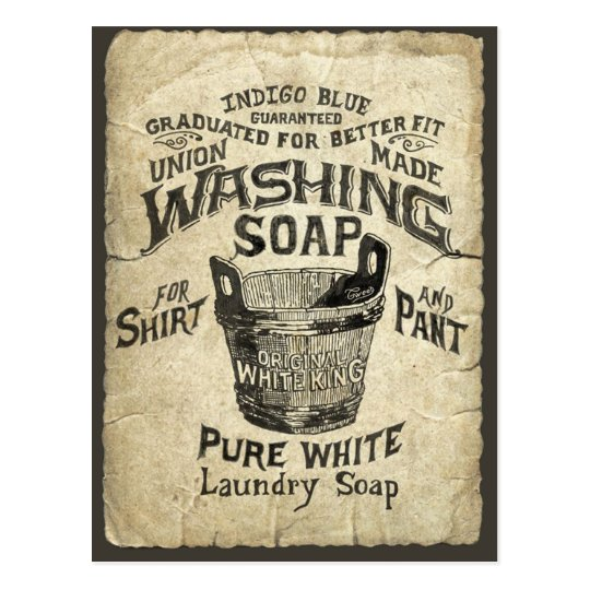 Ad Washing Soap Postcard