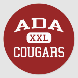 Ada - Cougars - Junior High School - Ada Oklahoma Classic Round Sticker
