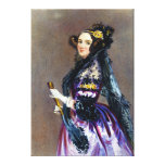 Ada King Countess of Lovelace by Alfred Chalon Gallery Wrapped Canvas