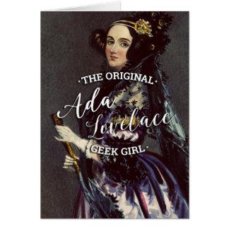 Ada Lovelace - The Original Geek Girl Card