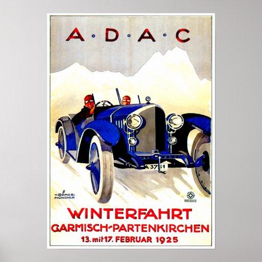 ADAC German Auto Race ~ Vintage Automobile Ad Poster