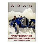 ADAC Vintage Automobile Advertisement 1925 Postcard
