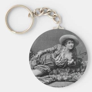 Adah Isaacs Menken as Mazeppa 1866 Key Chain