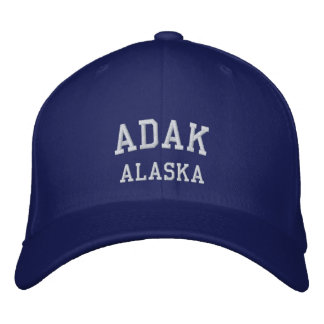Adak , Alaska Embroidered Hat