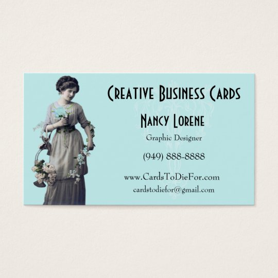 Adalia in Aqua from Creative Business Cards
