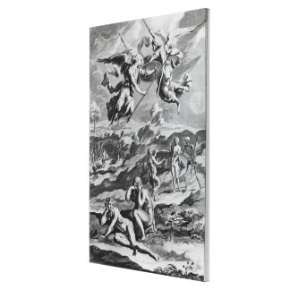 Adam and Eve after the Fall Canvas Print