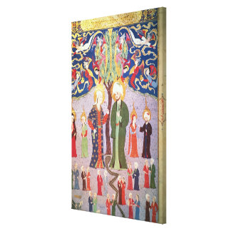 Adam and Eve and their Thirteen Twins Canvas Print