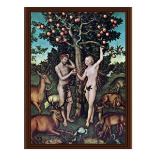 Adam And Eve By Cranach D. Ä. Lucas (Best Quality) Postcard