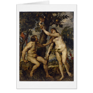 Adam And Eve By Peter Paul Rubens Card