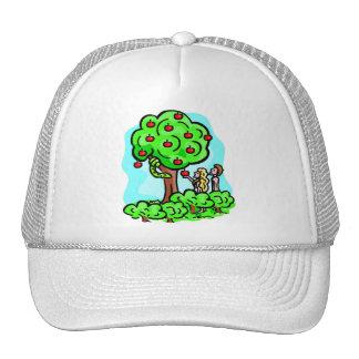 Adam and Eve Christian artwork Trucker Hats