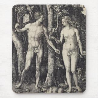 Adam and Eve Engraving by Albrecht Durer Mousepads