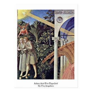 Adam And Eve Expelled By Fra Angelico Post Cards