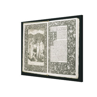 Adam and Eve, from 'The Kelmscott Chaucer', publis Canvas Prints