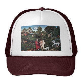 Adam And Eve In The Garden Of Eden, Adam And Eve I Mesh Hat